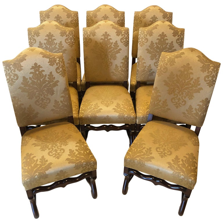 Set of Eight Georgian Style Dining Chairs For Sale