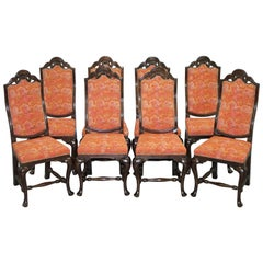 Set of Eight Grand House of Spain Inc Dining Chairs Ornate Frames