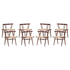 Set of Six Grass Seated Dining Chairs by George Nakashima Studio, US - 2019
