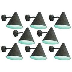 Set of Eight Hans-Agne Jakobsson Copper Outdoor Wall Lights