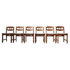 Set of Eight Henning Kjaernulf Razorblade Mid Century Danish Dining Chairs '8'