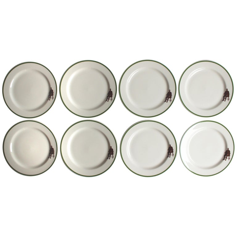 Set of Eight Homer Laughlin Plates For Sale