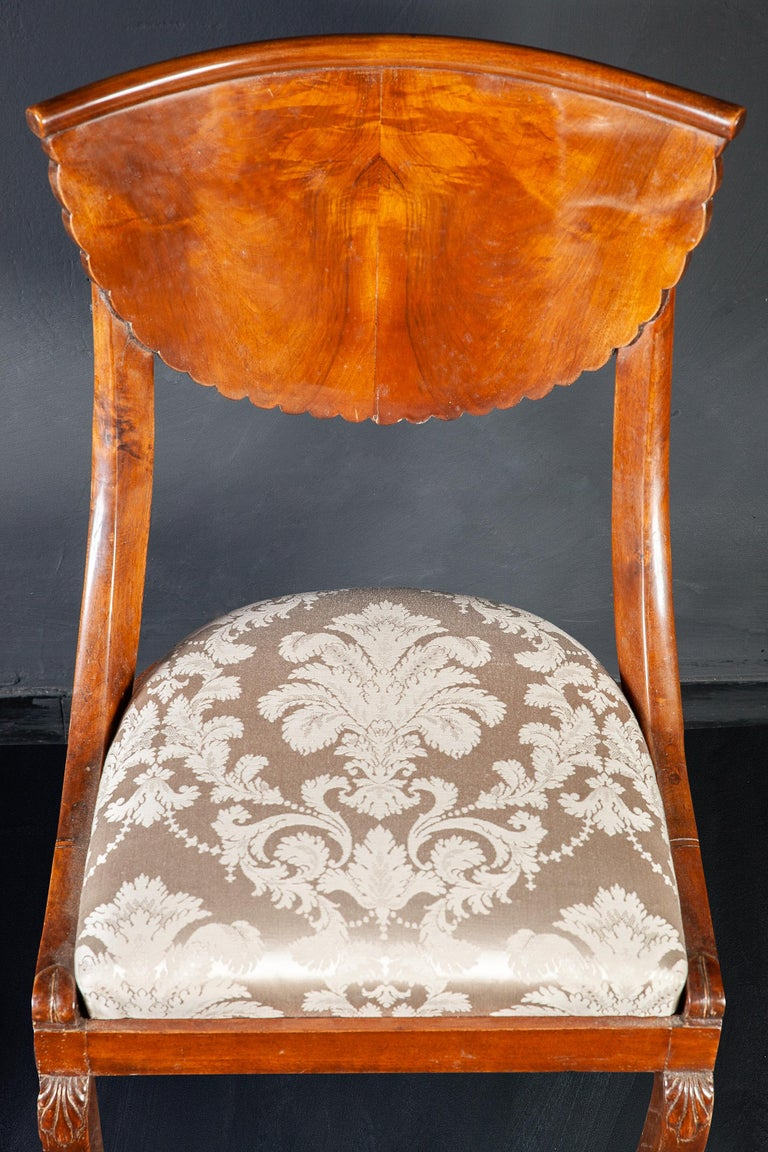 Set of Eight Italian Chairs and a Pair of Armchairs For Sale 1