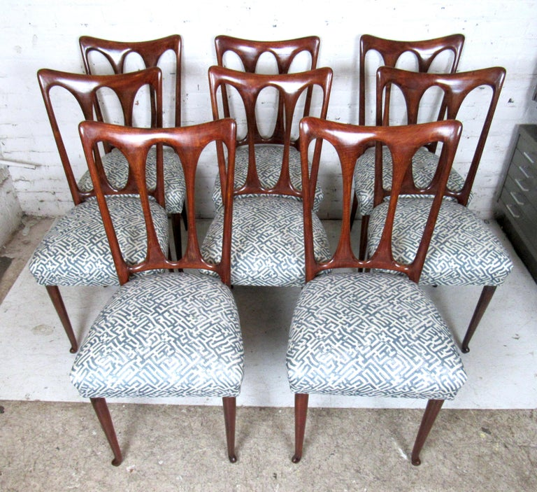 Set of Eight Italian Dining Chairs For Sale 6