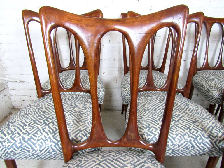 Set of Eight Italian Dining Chairs For Sale 1