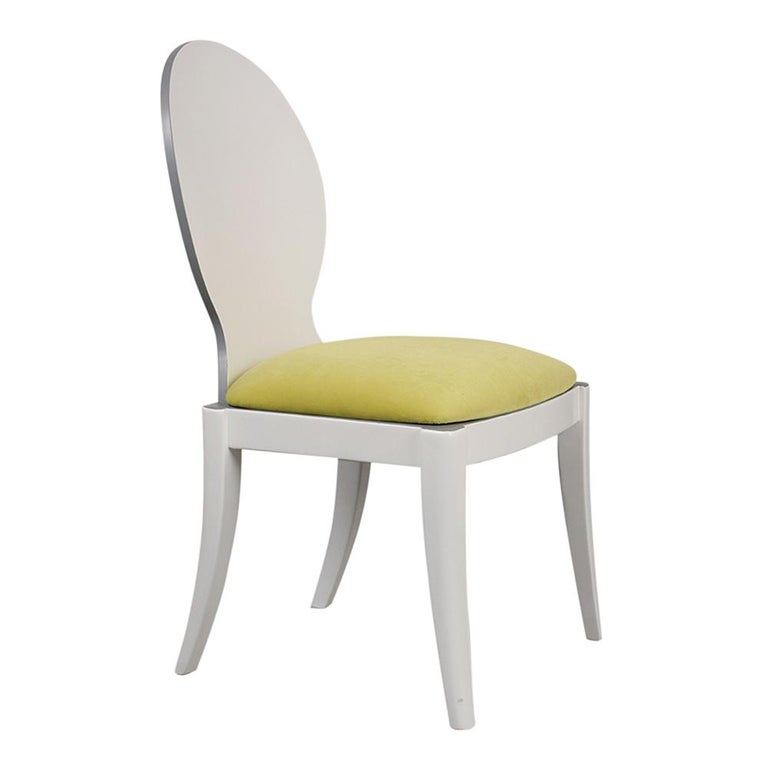 Set of Eight Italian Modern Dining Chairs For Sale 4