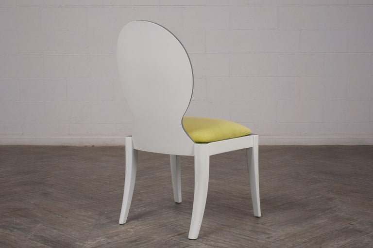 Set of Eight Italian Modern Dining Chairs For Sale 5