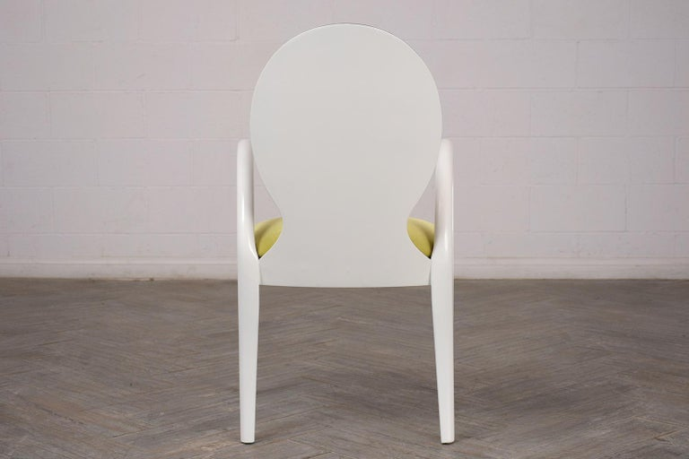 Set of Eight Italian Modern Dining Chairs For Sale 6