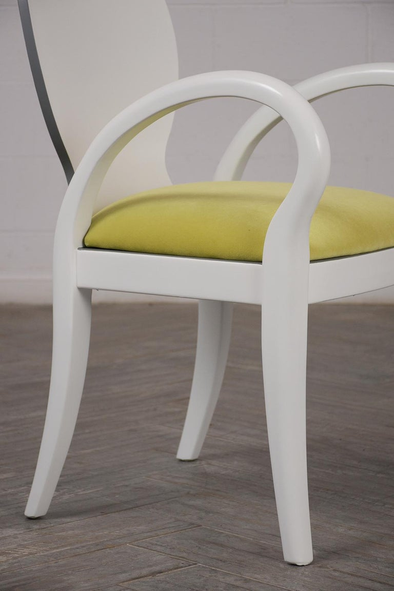 Late 20th Century Set of Eight Italian Modern Dining Chairs For Sale