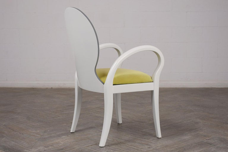 Set of Eight Italian Modern Dining Chairs For Sale 1