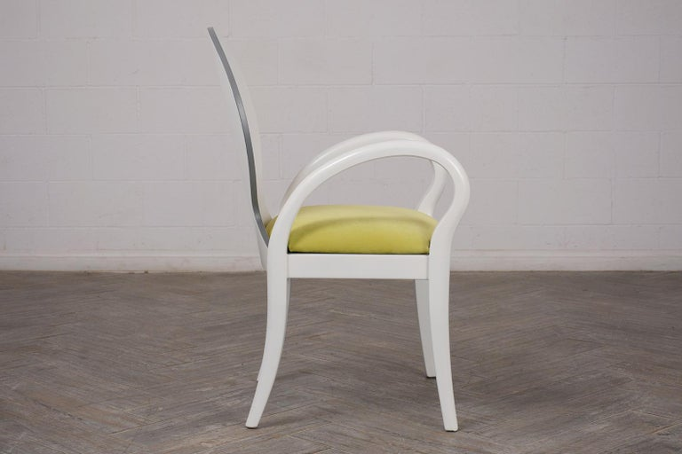 Set of Eight Italian Modern Dining Chairs For Sale 2