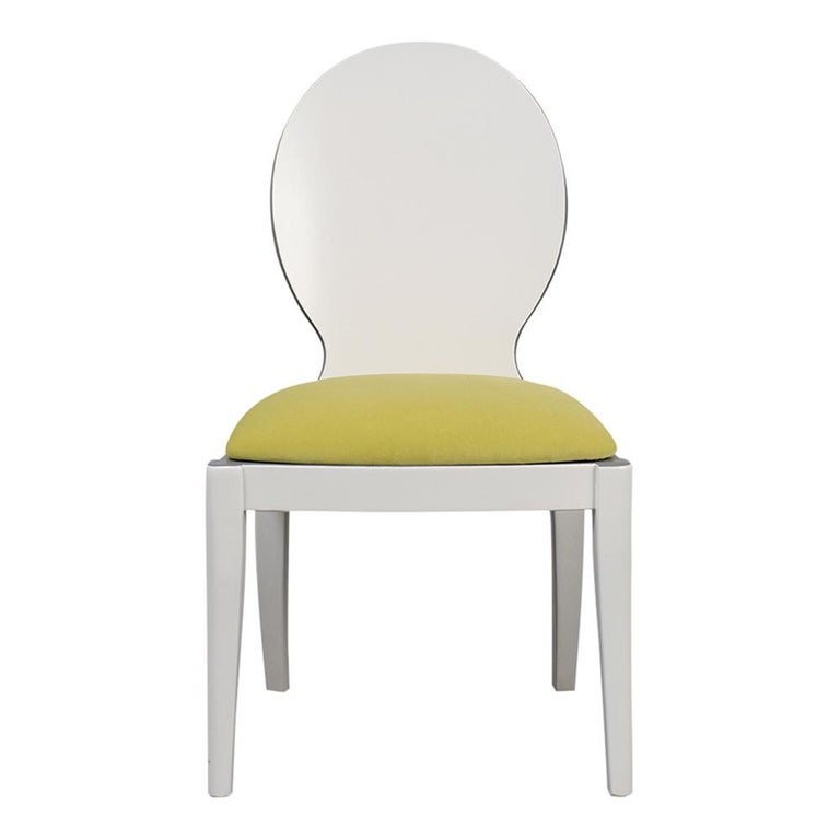 Set of Eight Italian Modern Dining Chairs For Sale 3