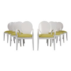 Set of Eight Italian Modern Dining Chairs