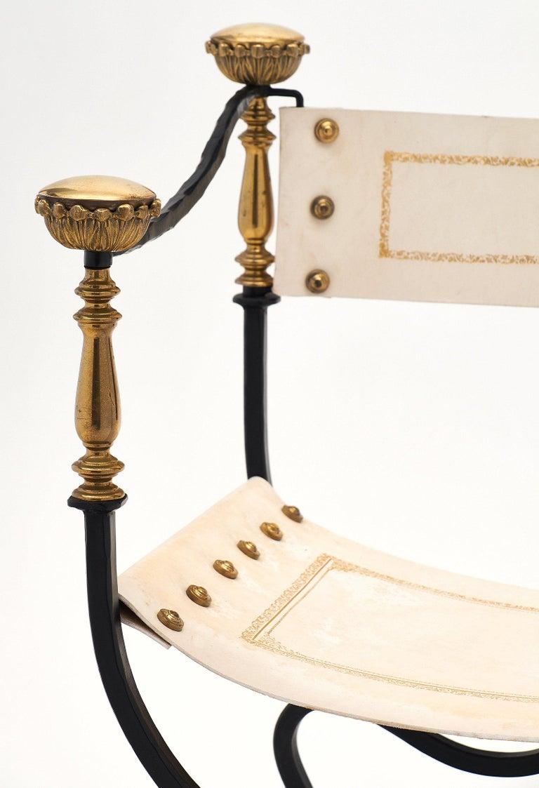 Late 19th Century Set of Eight Italian Renaissance Style Armchairs For Sale