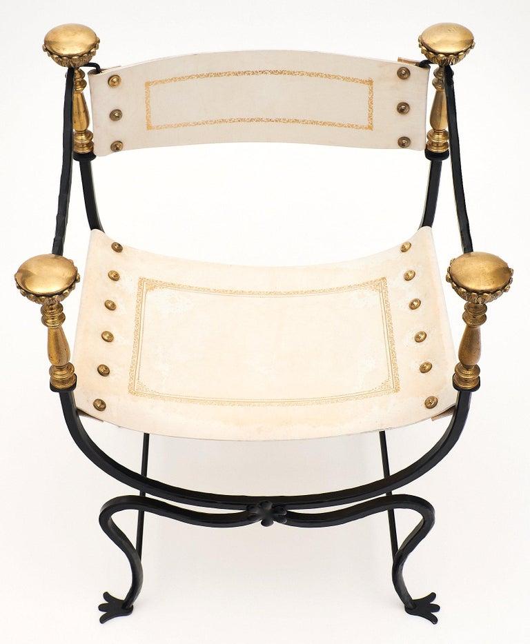 Set of Eight Italian Renaissance Style Armchairs For Sale 1