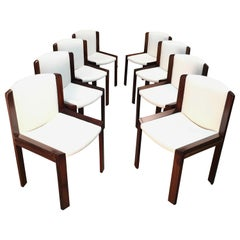 Set of Eight Joe Colombo '300' Dining Chairs for Pozzi