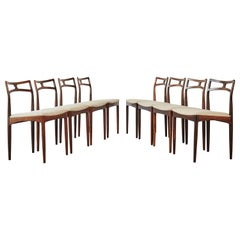 Set of Eight Johannes Andersen Model #94 Rosewood Dining Chairs, Denmark, 1960s