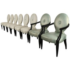 "Set of Eight John Hutton ""Casper"" Dining Chairs for Donghia, 1980s"