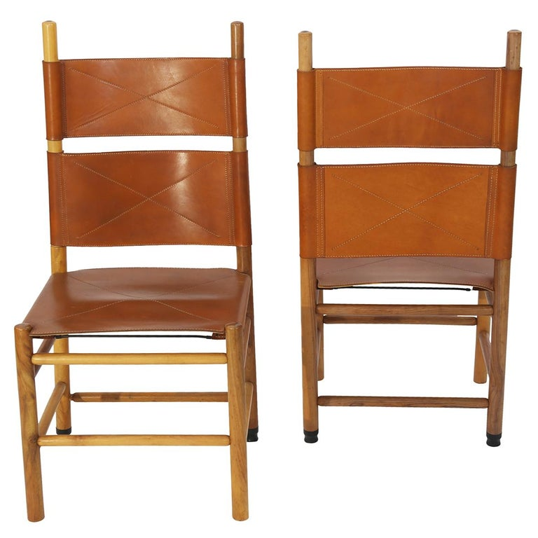 Italian Set of Eight Kentucky Chairs by Carlo Scarpa for Bernini For Sale