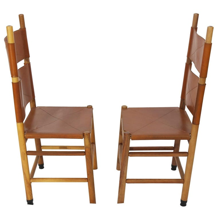 Set of Eight Kentucky Chairs by Carlo Scarpa for Bernini In Excellent Condition For Sale In New York, NY