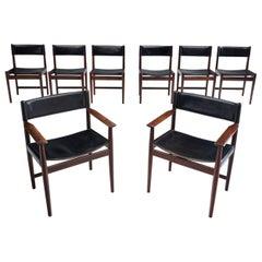 Set of Eight Kurt Østervig Dining Chairs for Sibast, Denmark, 1960s