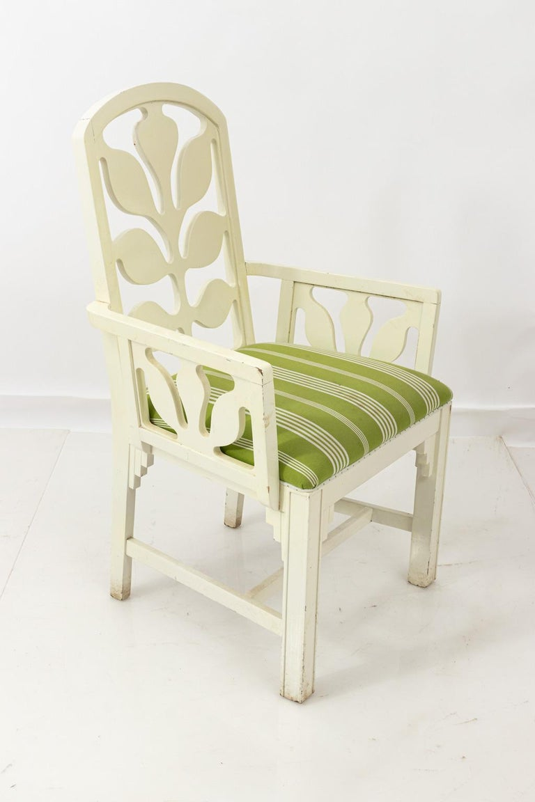Set of Eight Lacquered Dining Chairs For Sale 5