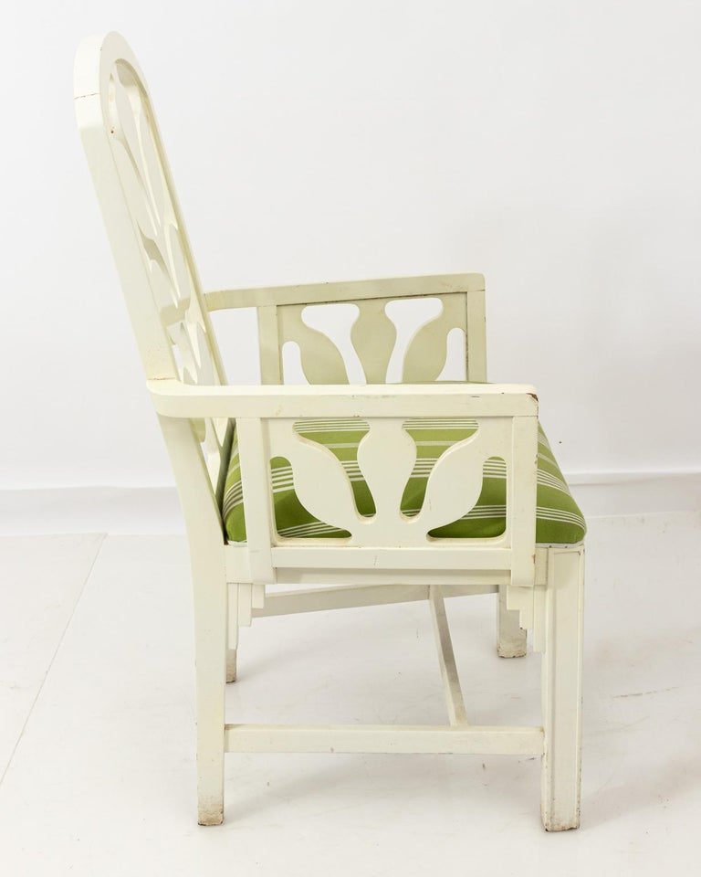 Set of Eight Lacquered Dining Chairs For Sale 7