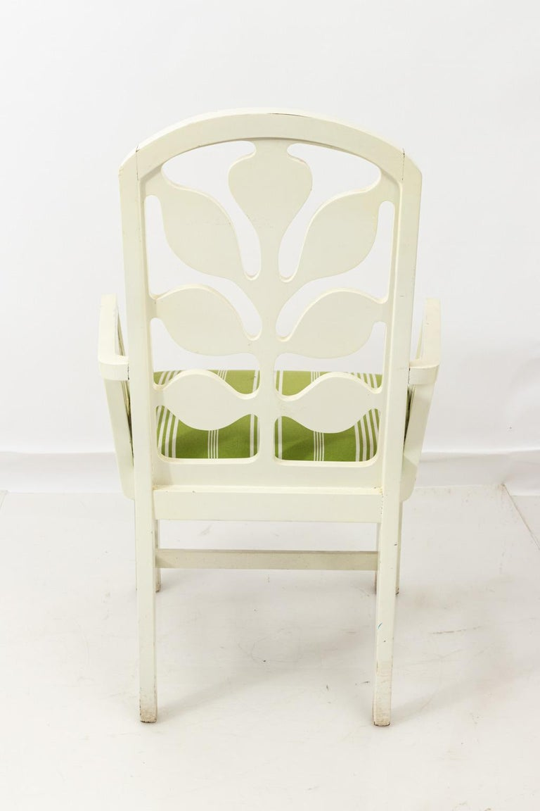 Set of Eight Lacquered Dining Chairs For Sale 8