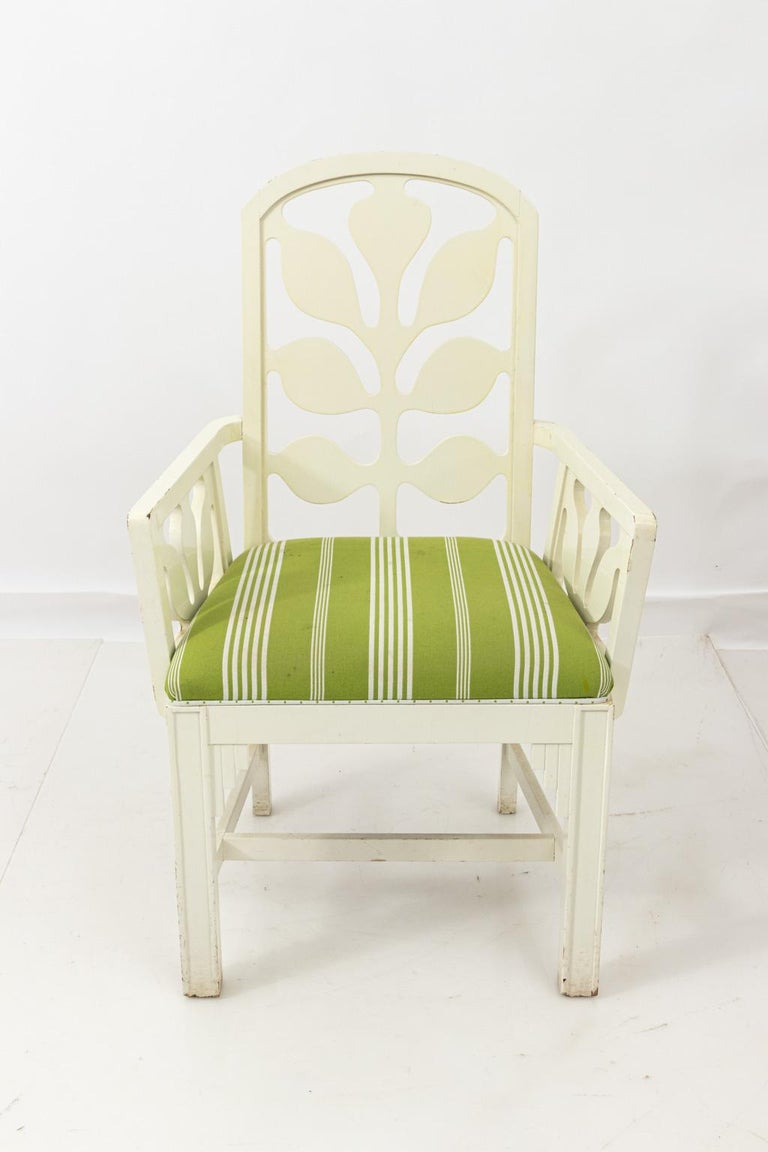Set of Eight Lacquered Dining Chairs For Sale 9