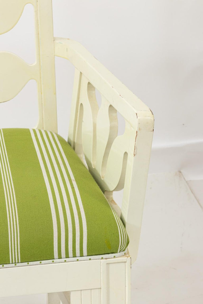 Set of Eight Lacquered Dining Chairs For Sale 10