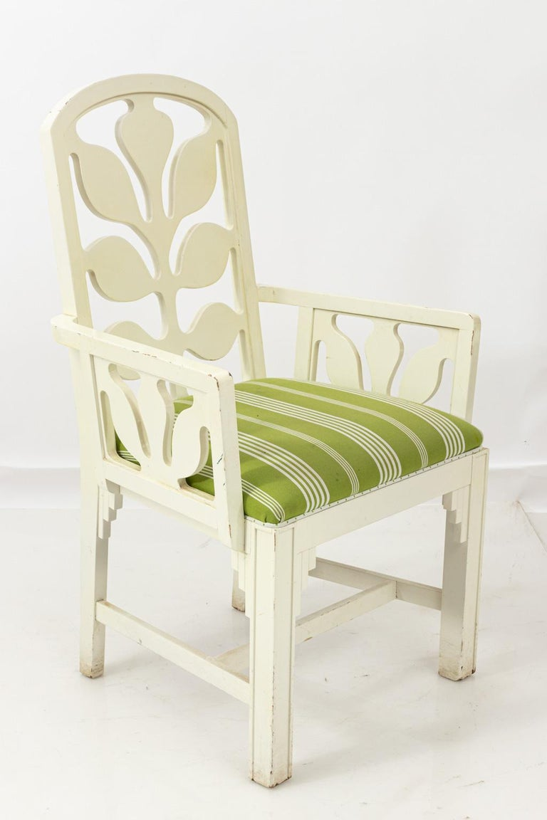 Set of Eight Lacquered Dining Chairs For Sale 12