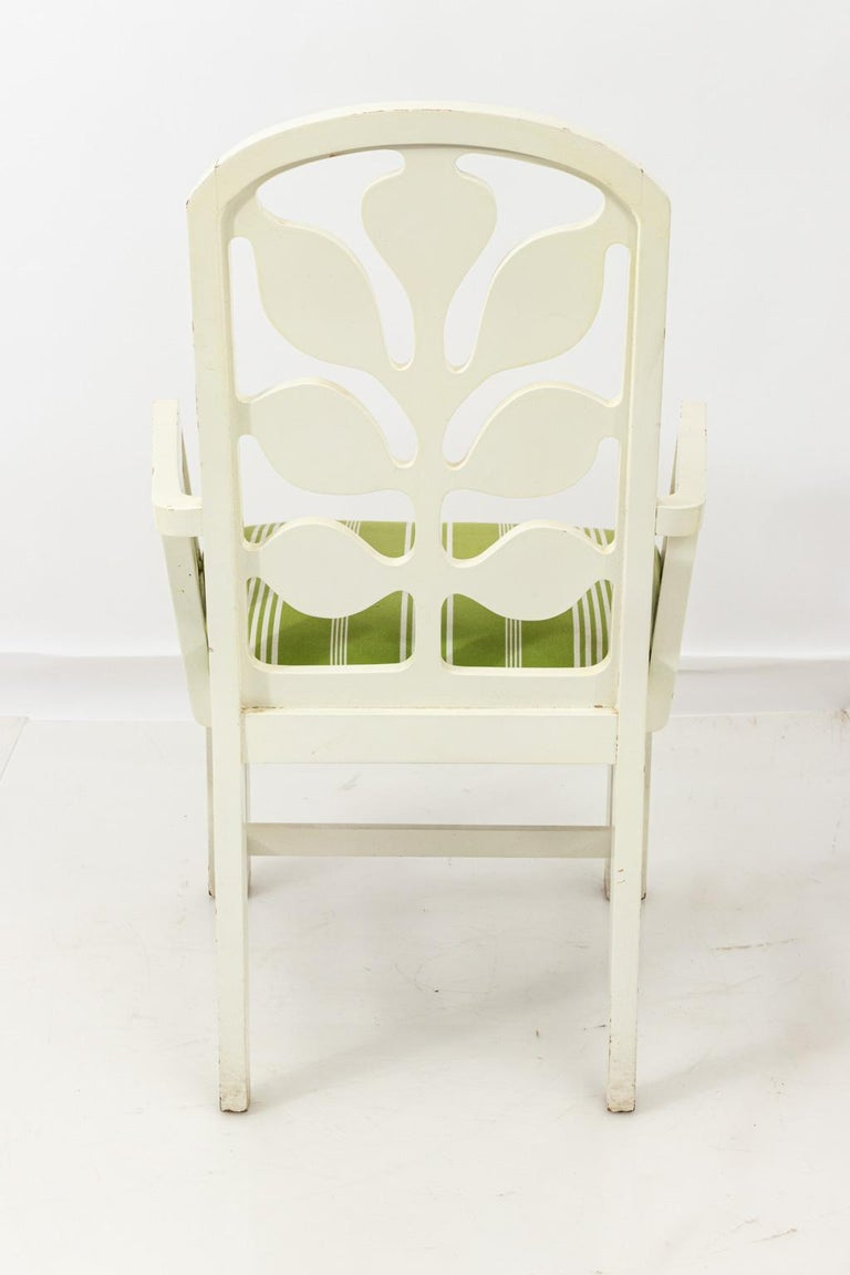 Set of Eight Lacquered Dining Chairs For Sale 15