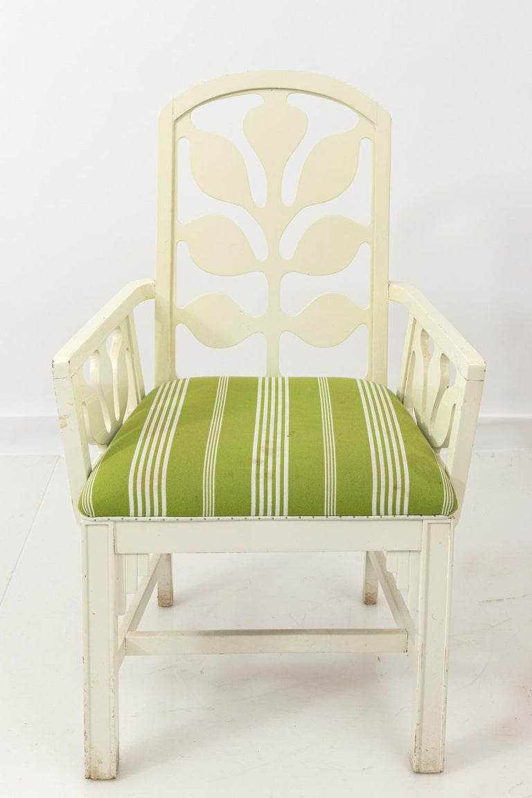Set of Eight Lacquered Dining Chairs For Sale 2