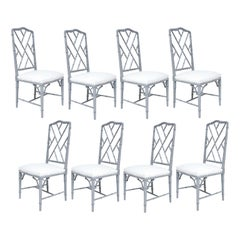 Set of Eight Lacquered Dining Chairs
