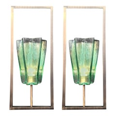 Six Limited Edition Italian Emerald Green Sconces, 21st Century