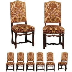 Set of Eight Louis XIII Style Chairs from France