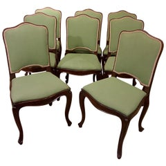 Set of Eight Louis XV Mahogany Dining Chairs