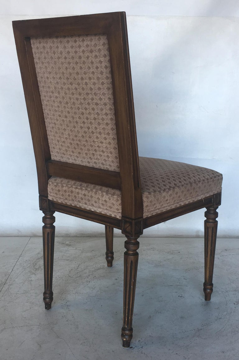 Set of Eight Louis XVI Dining Chairs in the Style of Maison Jansen In Good Condition For Sale In San Leandro, CA