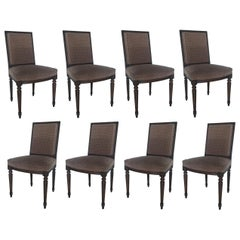 Set of Eight Louis XVI Dining Chairs in the Style of Maison Jansen