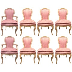 Set of Eight Louis XVI Style Painted Dining Chairs
