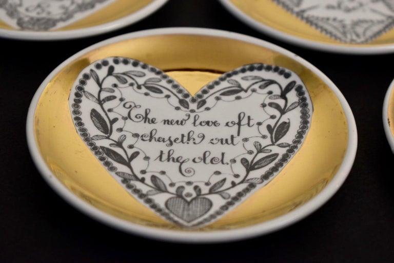 Set of Eight LOVE Fornasetti Coasters 2
