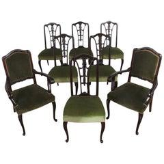Set of Eight Macassar Ebony Chairs