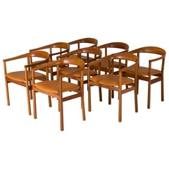 "Set of Eight Mahogany ""Tokyo"" Dining Chairs by Carl-Axel Acking"