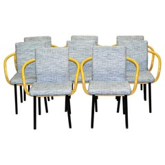 Set of Eight Mandarin Chairs by Ettore Sottsass Edited by Knoll, 1980s, Italy
