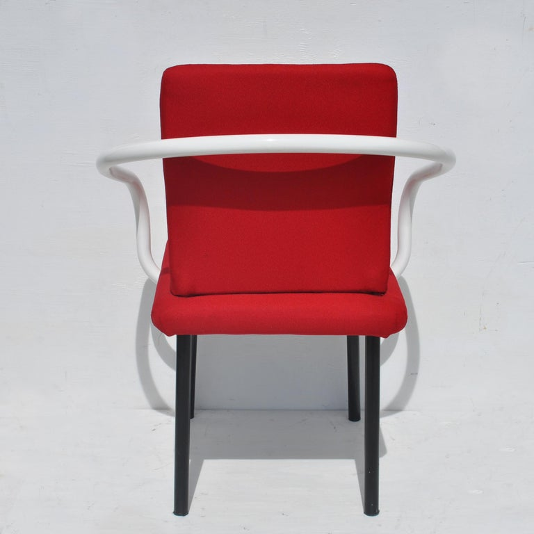 European Set of Eight Mandarin Dining Chairs Designed by Ettore Sottsass for Knoll  For Sale