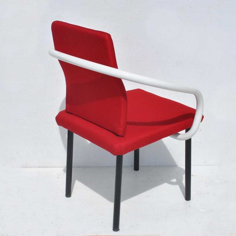 Late 20th Century Set of Eight Mandarin Dining Chairs Designed by Ettore Sottsass for Knoll  For Sale