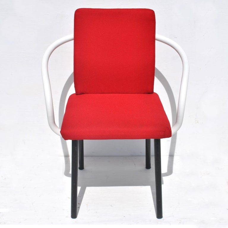 Metal Set of Eight Mandarin Dining Chairs Designed by Ettore Sottsass for Knoll  For Sale