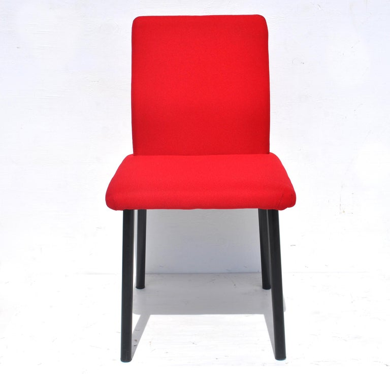 Set of Eight Mandarin Dining Chairs Designed by Ettore Sottsass for Knoll  For Sale 1
