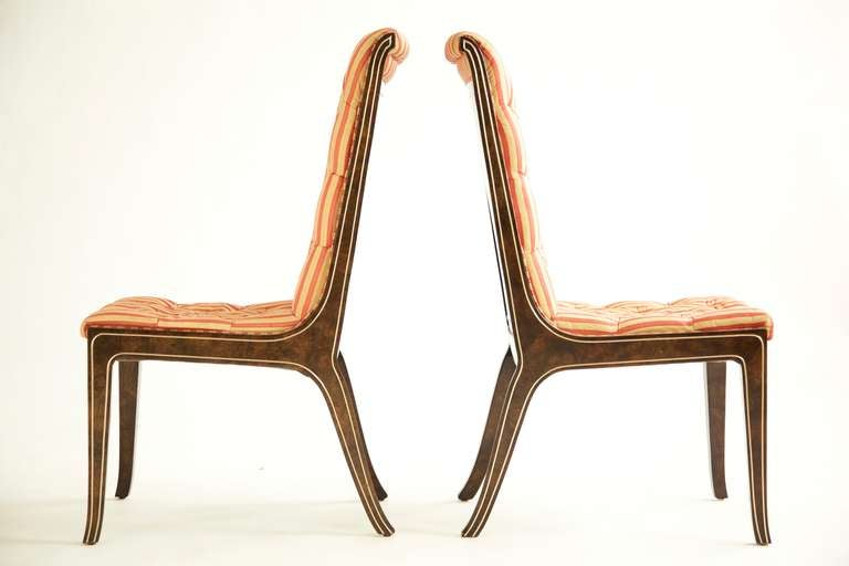 Mid-Century Modern Set of Eight Mastercraft Dining Chairs For Sale