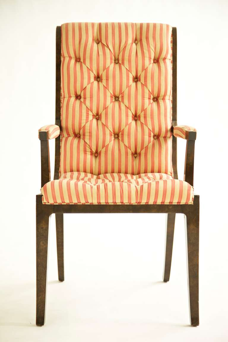 Veneer Set of Eight Mastercraft Dining Chairs For Sale